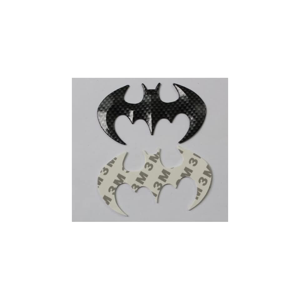 2x Car 3d Logo Carbon fiber style Batman Chrome Emblem Badge Sticker Self Adhesive Badge Decal Superhero