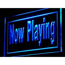ADV PRO i864-b Now Playing Home Audio Theater Decor Light Sign
