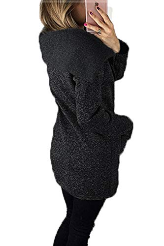 Manica Obliqua Lunga Black Cerniera Zinmuwa Giacca Sweatershirt Donna qH7ZwgEg
