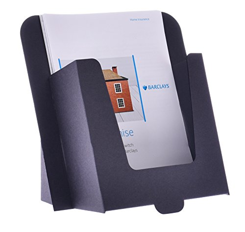 Leaflet Stand - Stand-Store Card-A5 Cardboard Stand for A5 Leaflets and Brochures - Black (Pack of 50)
