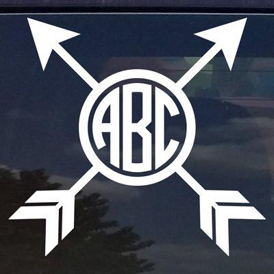 Amazon.com: Custom Crossed Flecha Círculo Monograma ...