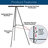 Aluminum Flip-Chart Presentation Easel: 2-Pack with Telescoping Legs, 70 Inches