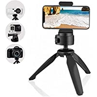 Diolo® Mini Tripod Cell Phone Clip Holder, Compatible with iPhone, Smartphones, Gopro, Webcams, Compact Cameras DSLRs.