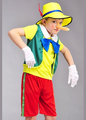 Childrens Pinocchio Style Puppet Boy Costume Small (4-6 years) Amazon.co.uk Toys u0026 Games  sc 1 st  Amazon UK & Childrens Pinocchio Style Puppet Boy Costume Small (4-6 years ...