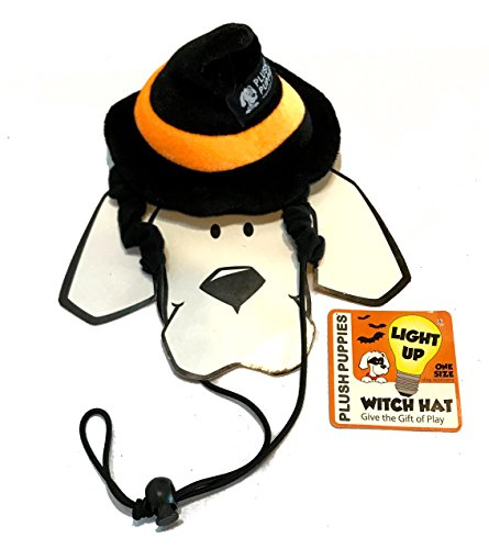 Pet Halloween Costumes - Devil, Witch - Cat Halloween Costume Hat - Halloween Dog Witch Costumes - Devil Horns Headband for Dogs (Witch Hat with Trim- One Size)