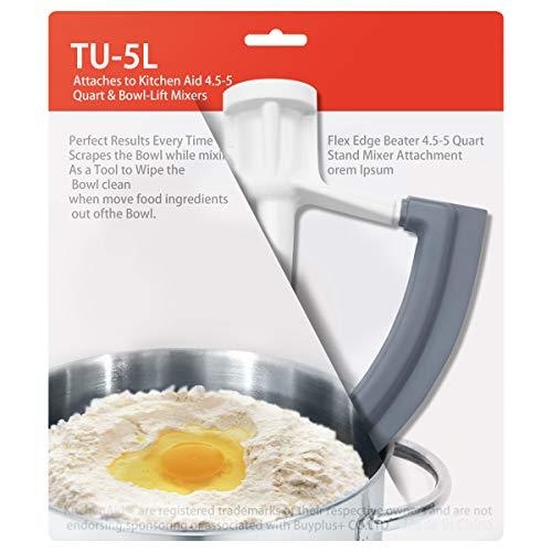 Tougs Flex Edge Beater For Kitchenaid Tilt Head Stand Mixer 4 5 5 Quart Flat Flexible 1 Pack