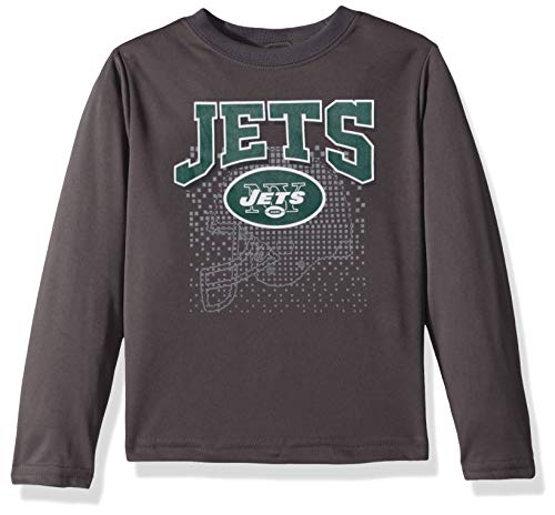 NFL New York Jets Unisex Long-Sleeve Tee, Gray, 4T