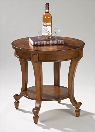 Magnussen Aidan Wood Round End Table (Cherry Table End Magnussen)