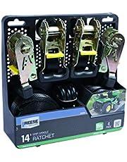 Kit C/ 4 Cintas De 4M P/ Fixacao De Carga C/ Catraca Manual (Carga Max. 454 Kg) Aco Galv. Reese 24.8 X 25.4 X 7.5