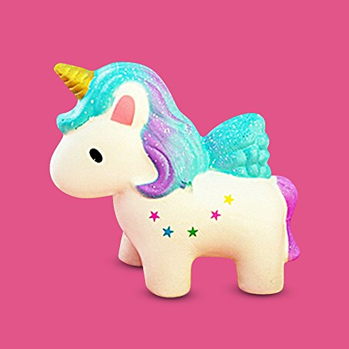 MAUI  Slow Rising Squishy Unicorn  Multicolor Stress-Relief Unicorn Toy for Kids  Cream Scented  Jumbo Squishy Unicorn Unicorn Squishy - Gift for Girls