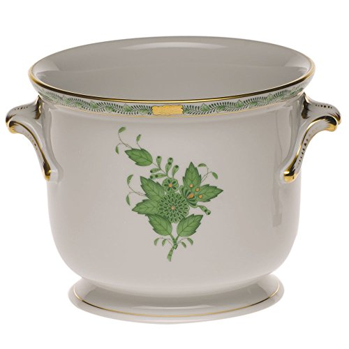 Herend Chinese Bouquet Green Cachepot