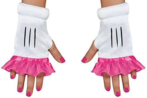 [Pink Minnie Mouse Fingerless Glovettes For Girls] (Mouse Costume Makeup)