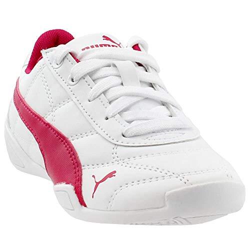PUMA Kids' Tune Cat 3 Sneaker, puma white-love potion, 11 M US Little Kid