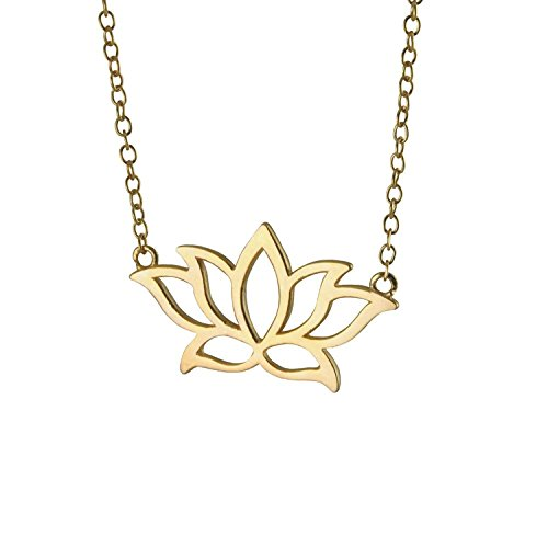 Mmiiss Lotus Flower Pendant Necklace 925 Sterling Silver for Women, Floral Necklace (Spring Floral Necklace)