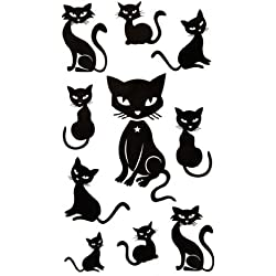 SPESTYLE waterproof non-toxic temporary tattoo stickersWaterproof black animal temporary tattoos sexy cute kittens