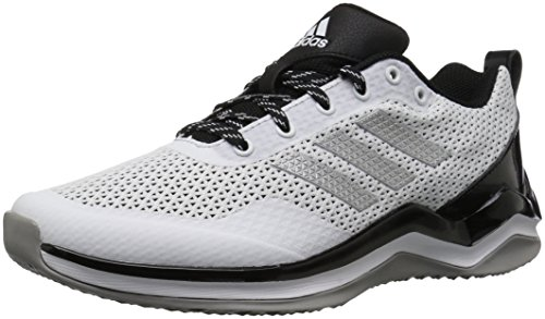 adidas Mens Freak X Carbon Mid Cross Trainer White/Metallic Silver/Black
