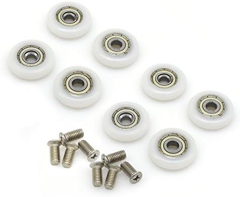 Ruedas de repuesto mampara de ducha corrediza, 8 unidades, 25 mm de diámetro con tornillo M5: Amazon.es: Bricolaje y herramientas