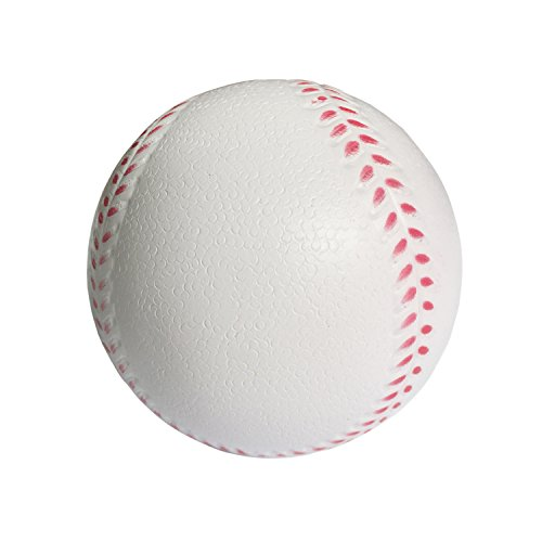 B1ST Practice Baseballs Foam Softballs Training Sporting Batting Soft Ball for Children Teenager Players White 11 Inch Pack of 6 ()