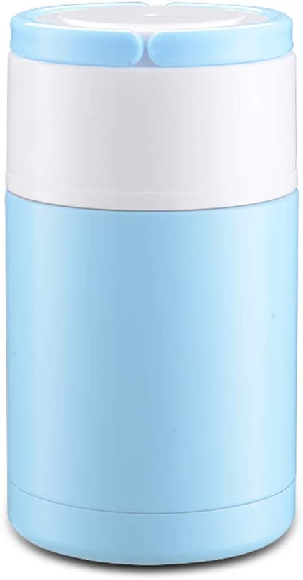 CFZHANG 800Ml Food Flask by Vacuum Insulated, Double Walled Stainless Steel Food Flask & Food Container Insulated Mini Food Soup Thermal Flask for Kids,Insulated Container for Lunch,1.0L