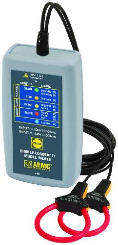 AEMC ML912 Simple Logger II, Two-Channel TRMS MiniFlex, 1000A AC Input Range by AEMC
