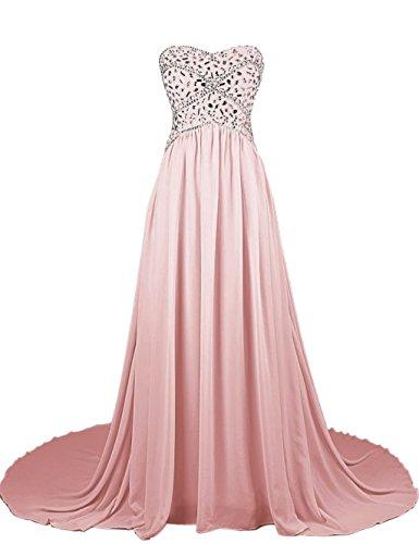 Abendkleider Fanciest Kleider Ball Kleider Damen 2016 Blush Beaded Strapless Mint Formelle Chiffon pB0pSqrn
