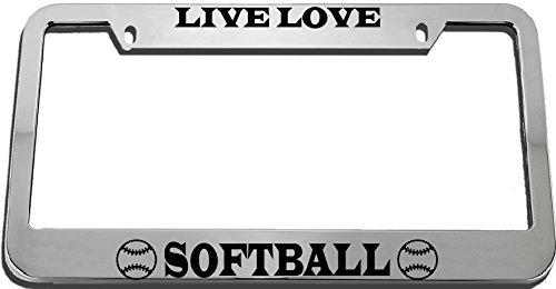 Speedy Pros Live Love, Softball License Plate Frame Tag Holder