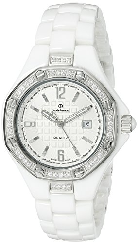 Claude Bernard Women's 54002 B B Dress Code Analog Display Swiss Quartz White Watch