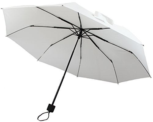 12pk Personal Sized Compact Umbrellas - White