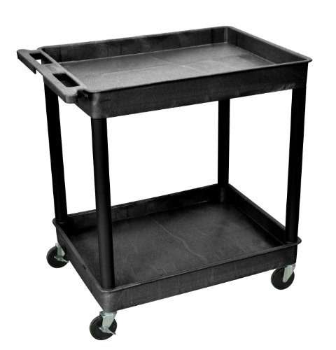 Luxor TC11-B H Wilson Multi-Purpose Large Tub Cart, 400 Lb, Thermoplastic Resin/Polyurethane/Hdpe, Full Size, Black ()