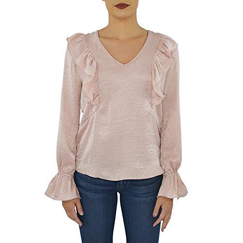 Waverly Grey Leah Ruffle Top in Rose (Medium, Rose)