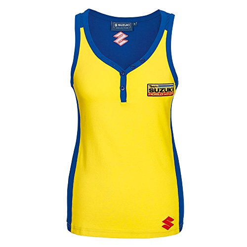 SUZUKI MXGP Team Tank Top ! Damen Shirt ohne Arm gelb blau