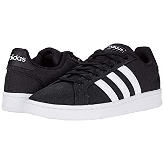 adidas mens Grand Court Sneaker, Core Black/Ftwr White/Ftwr White, 11 US