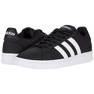 adidas mens Grand Court Sneaker, Core Black/Ftwr White/Ftwr White, 10.5 US