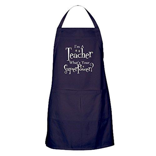 CafePress Super Teacher Apron (Dark) Kitchen Apron with Pockets, Grilling Apron, Baking Apron