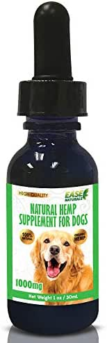 Organic Hemp Oil for Dogs (1000mg) – Composure, Anxiety and Joint Pain Relief, Reduce Inflammation, Healthy Skin and Coat & Supports Overall Health - Bursting Nutrients - Made in USA