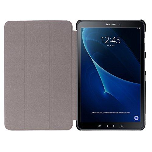 Galaxy Tab A 10.1 Case, Samsung Galaxy Tab A 10.1 Case, Linkertech Tri-Fold PU Leather Standing