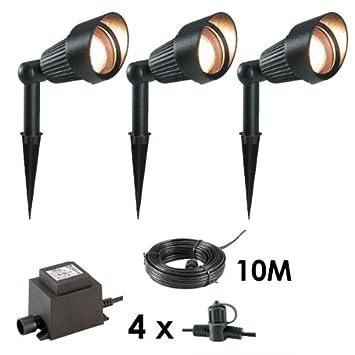 3 x Spotlights MR16 Outdoor 12V Garden Lighting Spot Lights Kit   Easy Plug  and Play3 x Spotlights MR16 Outdoor 12V Garden Lighting Spot Lights Kit  . Low Voltage Garden Lighting Kits Uk. Home Design Ideas