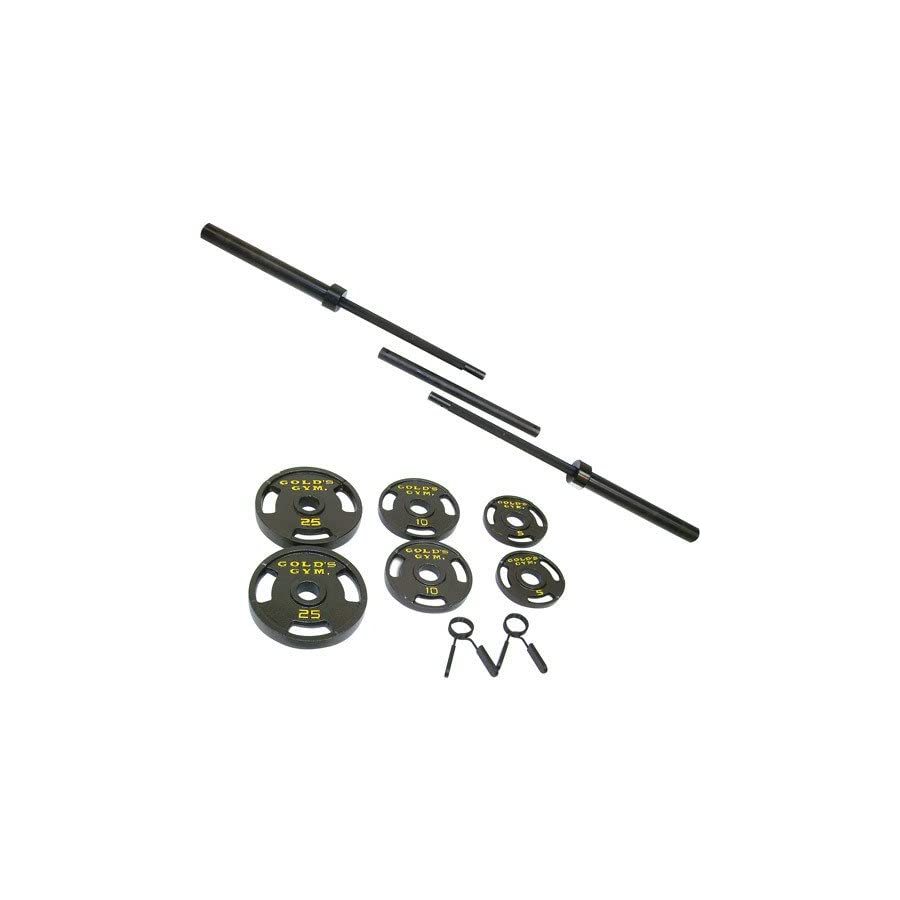 Golds Gym.. Classic Model Olympic Barbell Weight Set (100)