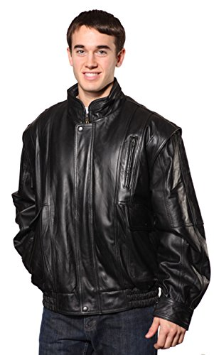 - Wilda MEN'S BLACK BOMBER COWHIDE LEATHER JACKET WITH WARM FUR ZIPOUT LINNING INSIDE (S Regular)