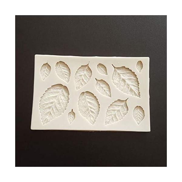 Hosaire - Stampo da pasticceria, pratico, in silicone, per gelato fondente 3D, a forma di foglie, bricolage, decorazione, mini stampi per sapone 4 spesavip