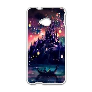 Disney Land Cartoon Castle White HTC M7 case