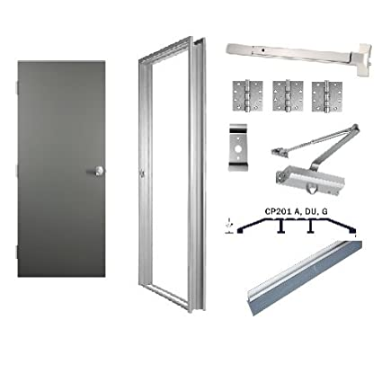 Commercial Steel Door, Frame Door Hardware 36\