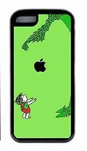 Apple Fall far from Tree iPhone 5C TPU Black Case, Customized Apple Fall far from the Tree Case for iPhone 5C by Popcustom