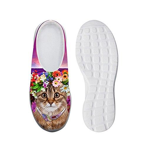 Mocassini Traspiranti Ladies Lovely Cat Casual Mesh Flats Pigro Shoes 40