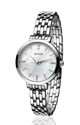 - BAOSAILI Watch Women Stainless Steel Quartz Wrist Watch (Silver)