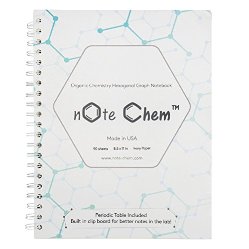 note-chem-hexagonal-graph-paper-organic-chemistry-notebook-180-pages-with-periodic-table-by-bierken