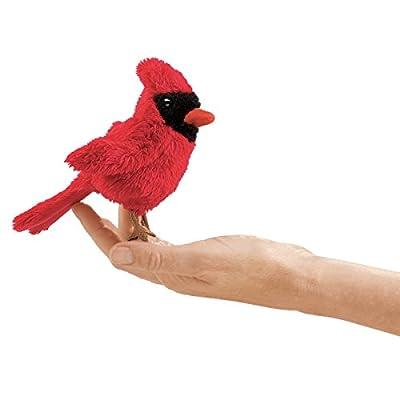 Folkmanis Mini Cardinal Finger Puppet: Toys & Games