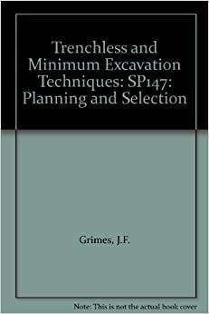 Book Trenchless and Minimum Excavation Techniques