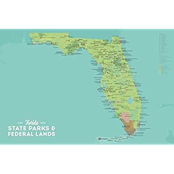 Map Of Florida State Parks.Amazon Com Best Maps Ever Florida State Parks Federal Lands Map