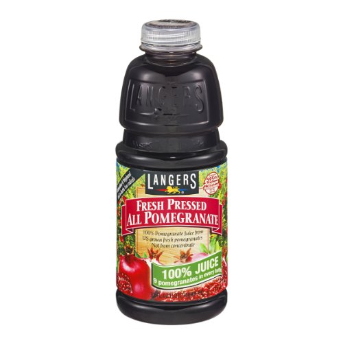 Langers Fresh Pressed All Pomegranate Juice, 32 FZ (Pack of 12) by Langer's